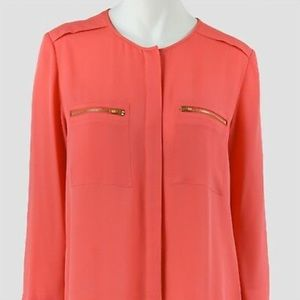 Theory silk-georgette Blouse